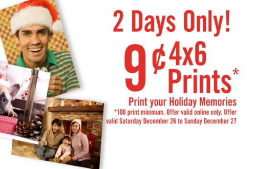 Shoppers Drug Mart Boxing Week 9 Cent 4x6 Prints