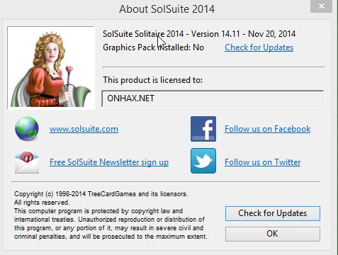 Solsuite Solitaire 2014 v14.11 Full Crack