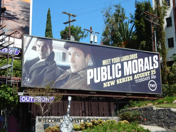 Public Morals series premiere billboard