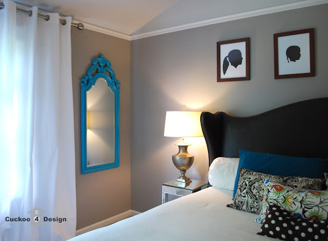 turquoise painted mirror