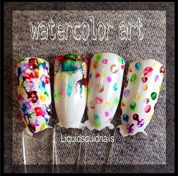 Day 49 Diy Crayola Watercolor Nail Art