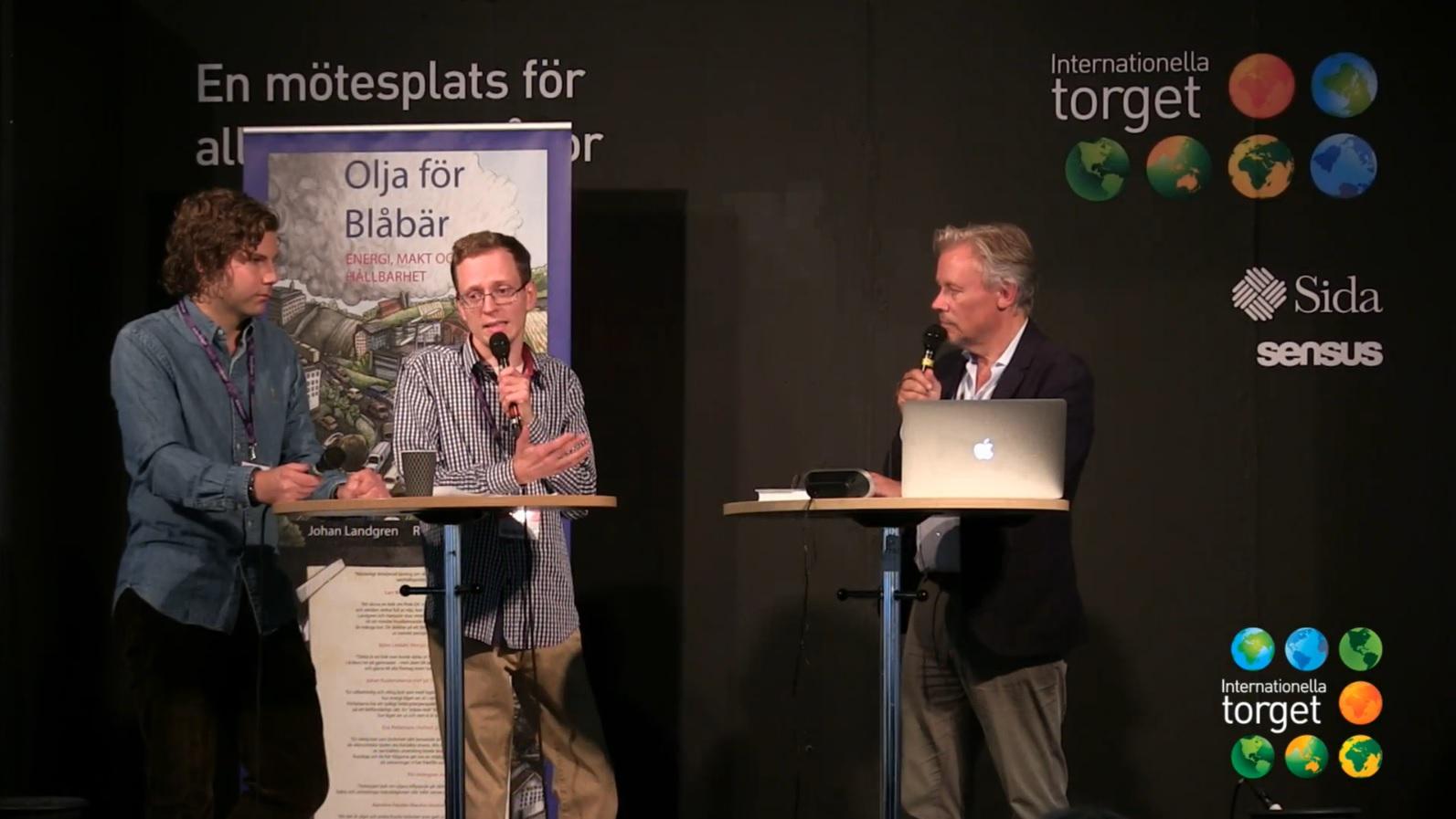 Samtal om Olja för blåbär -Bokmässan i Göteborg 2015