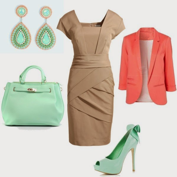 coral & mint look