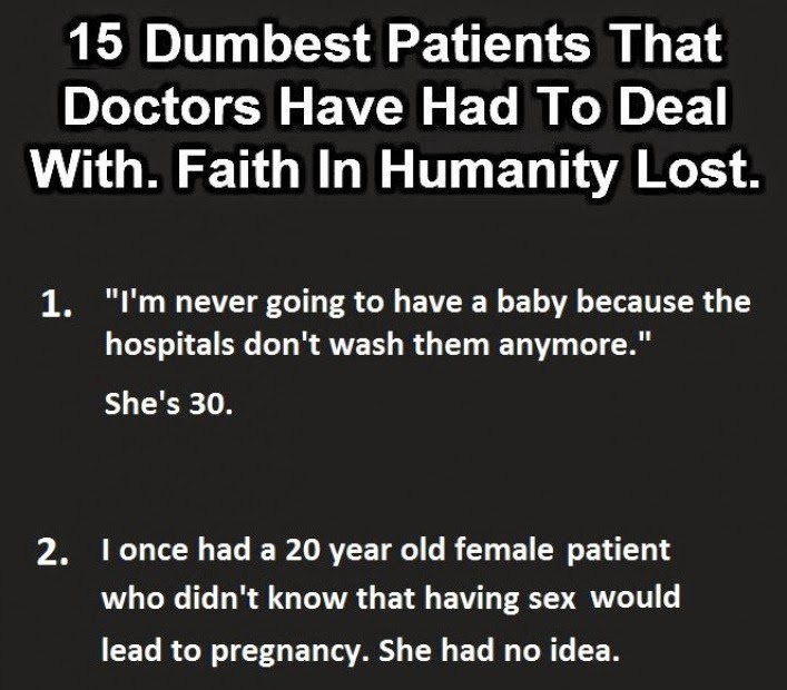 Doctors share their horror stories about patients