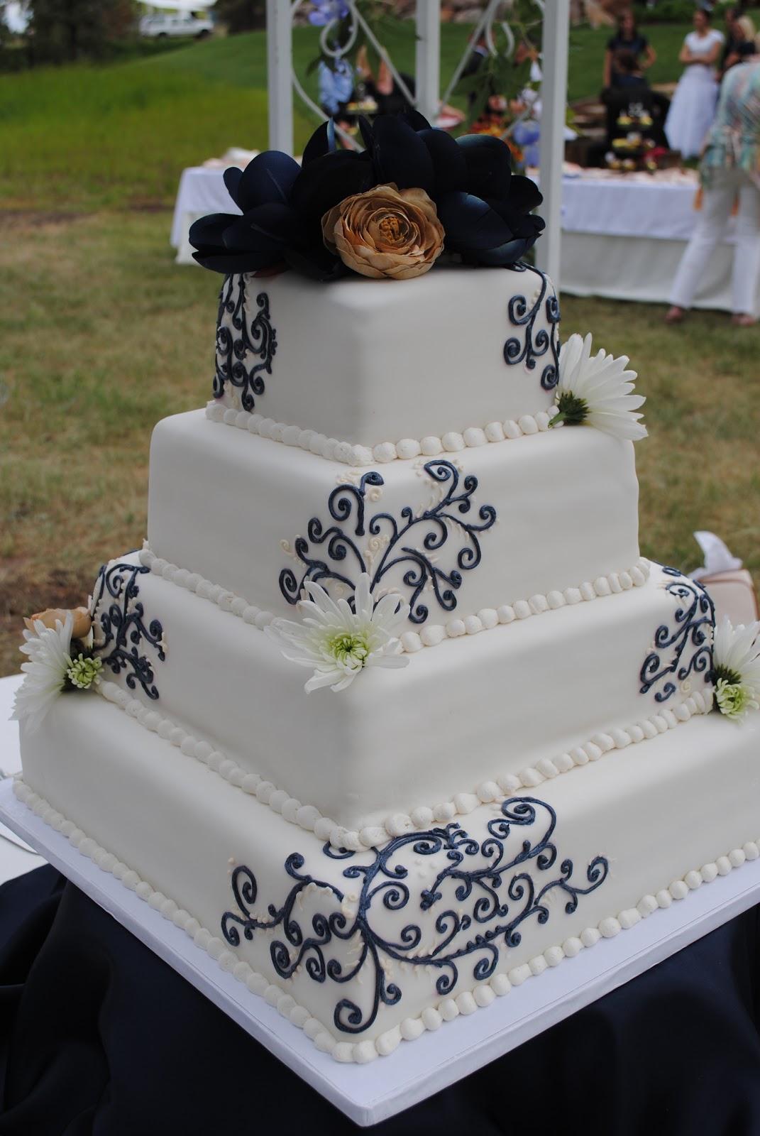 Becky s Cake Blog Navy Blue & Champagne