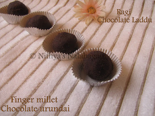 Ragi Chocolate Laddu | Finger millet Chocolate urundai