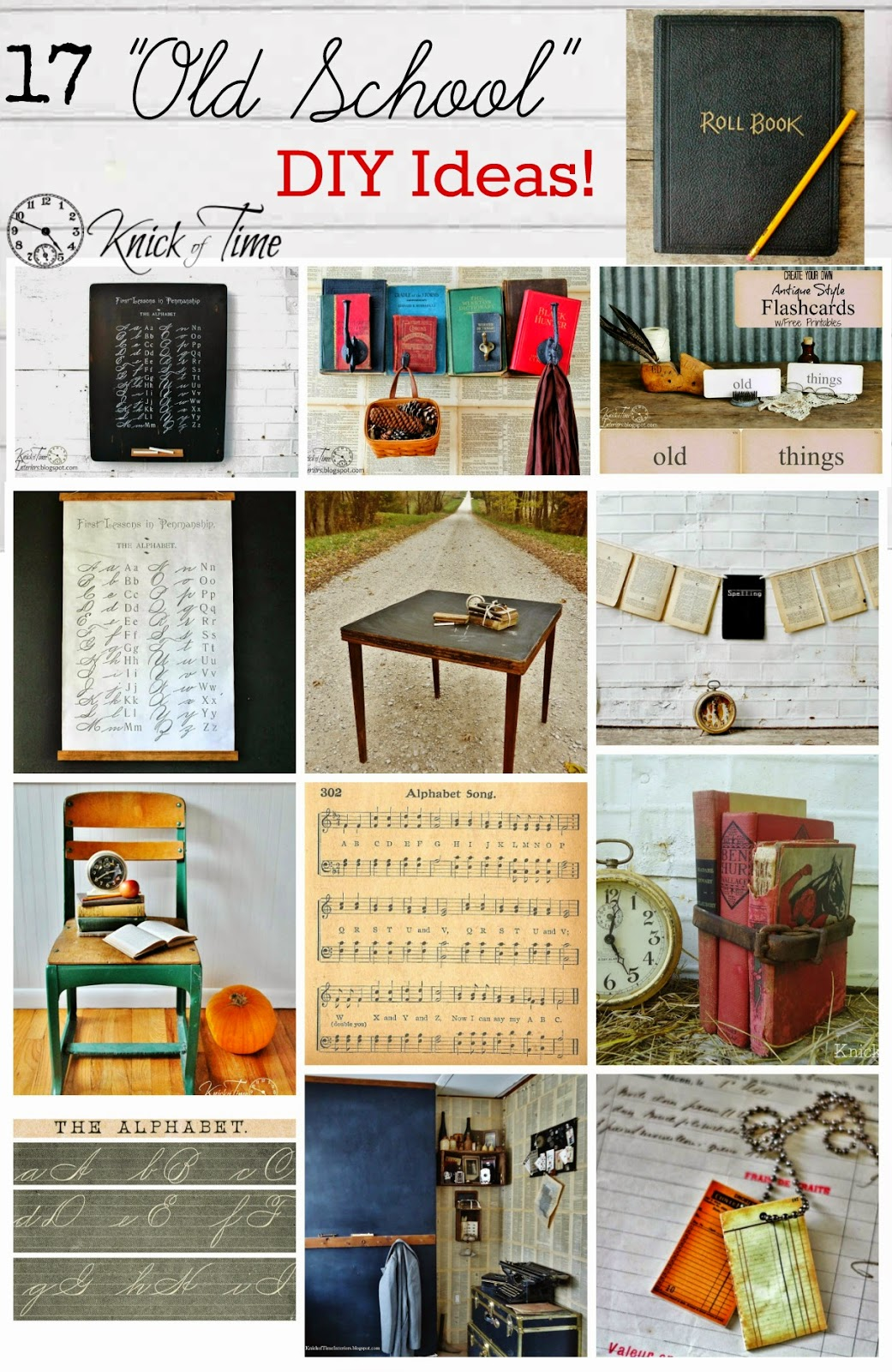 Vintage Classroom Decor ~ Back to school decor roundup old style knick