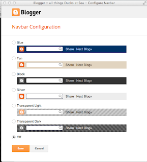 Blogger Navbar configuration - turn it off
