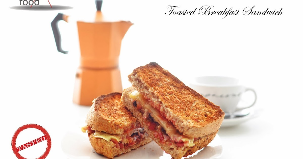 Simple Food: Bacon Cheese and Mushroom Toasted Breakfast Sandwich