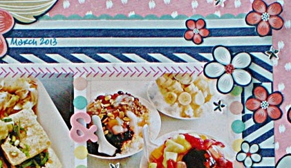 SRM Stickers Blog - Yummy Layout by Yvonne - #layout #borders #stickers #stitches