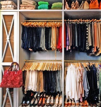 Organize Clothes By Color And Type.