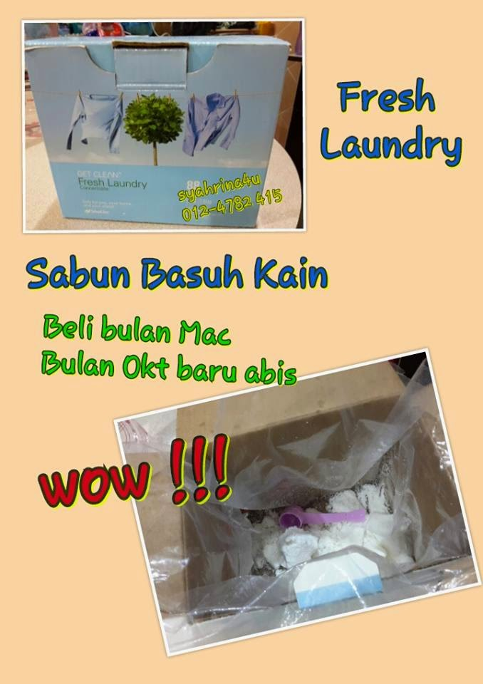 Sabun Basuh Baju Organik,  Fresh laundry Powder