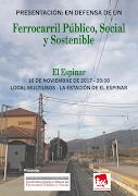 Presentación de la Coordinadora Estatal por un Tren Público, Social y Sostenible.