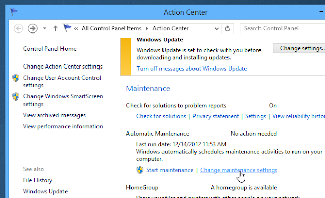 disable windows 8 automatic maintenance