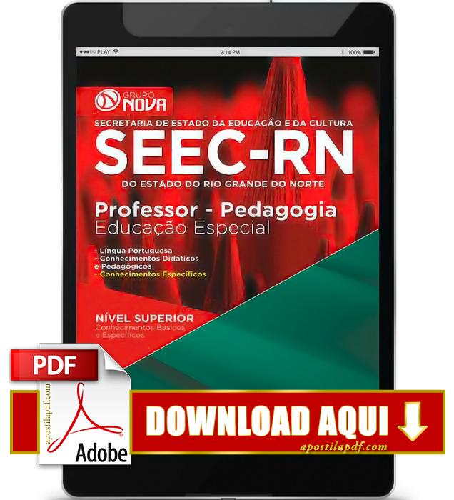 Apostila SEEC RN 2015 Professor Pedagogia Educação Especial PDF Download