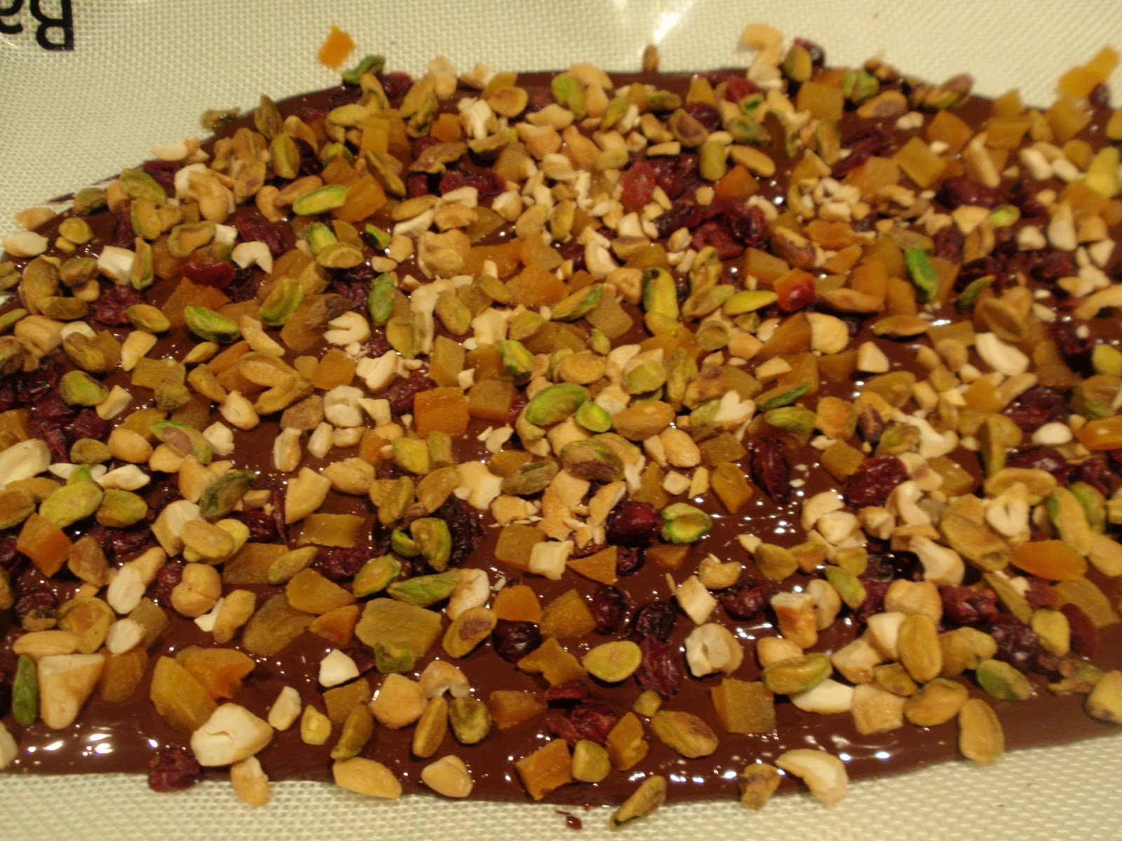 TEST #33: Bittersweet Dark Chocolate Bark with Dried Fruit and Nuts ...