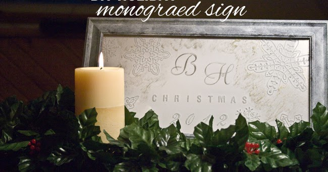 Monogramed Christmas Decorations