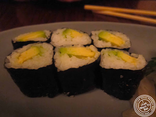 Image of Avocado rolls at Japonica, Japanese restaurant in Greenwich Village, NYC, New York