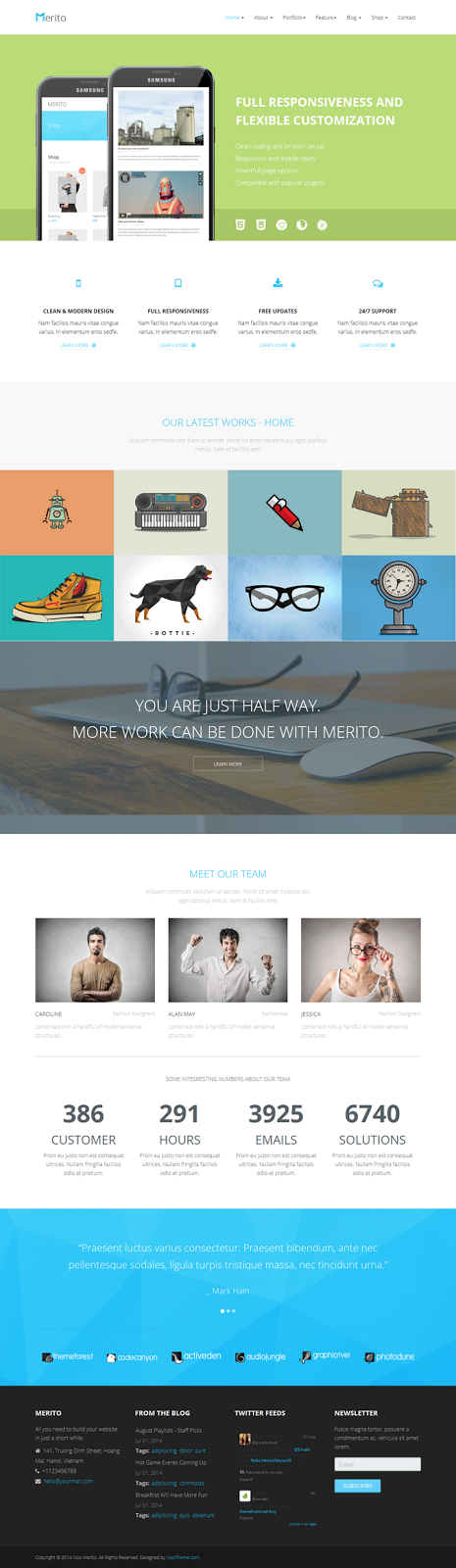 Merito The Joomla Multipurpose Template