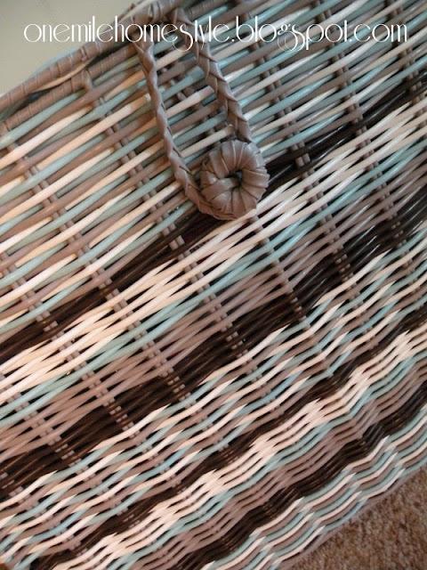 Plastic Woven Basket Detail