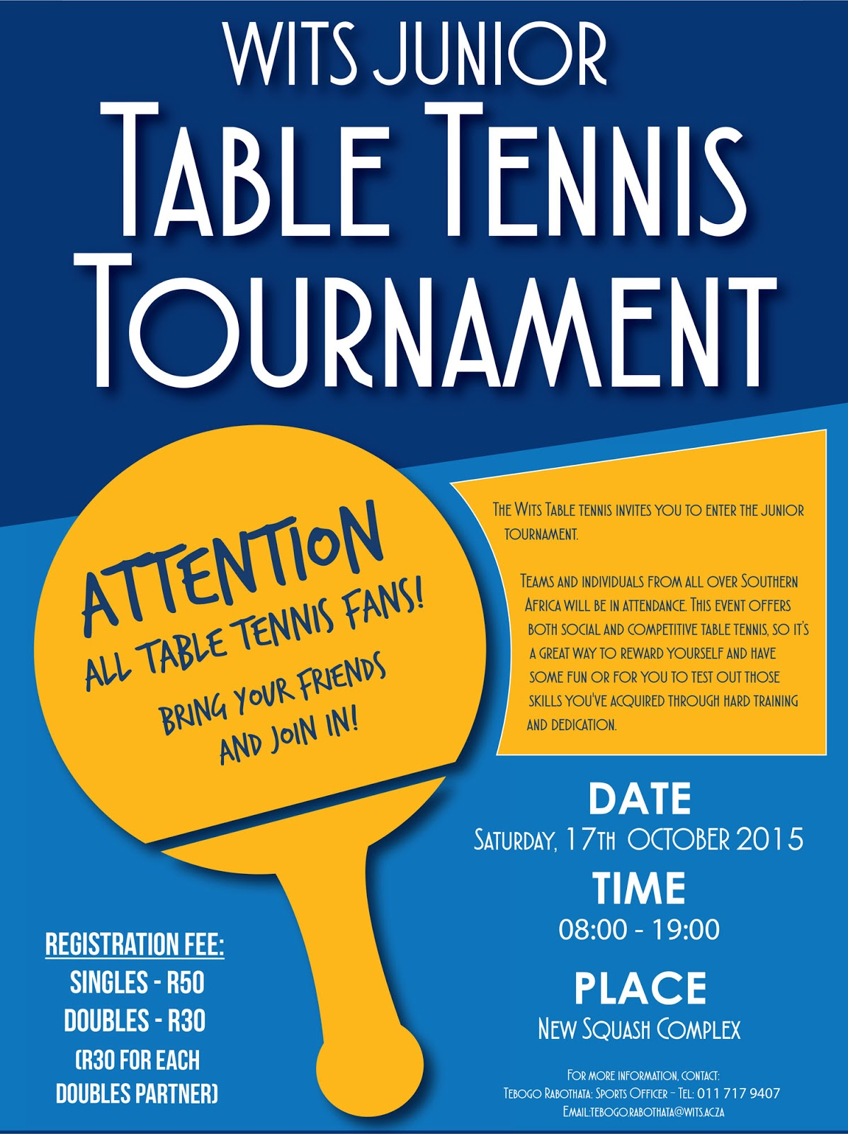 Alberton table tennis club 2015 for Table tennis tournament template
