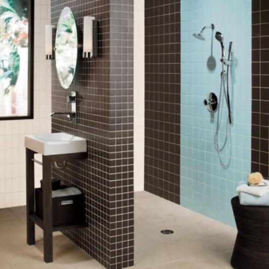 Banheiros decorados azulejo pastilha ideias decora o for Go as you like ideas