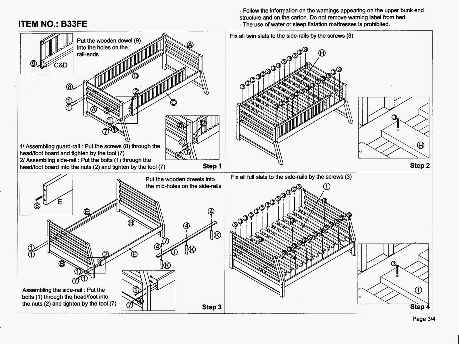 crib bed assembly instructions bellini images frompo