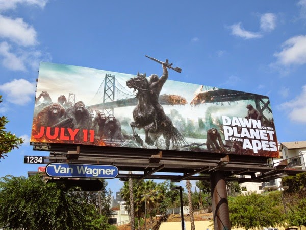 Dawn of the Planet of the Apes billboard
