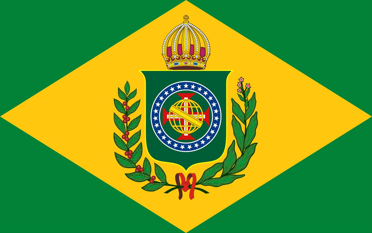 Bandeira do Brasil Imperial - Modelo (10 X 16) - Crédito da Imagem: Emanuel Nunes Silva