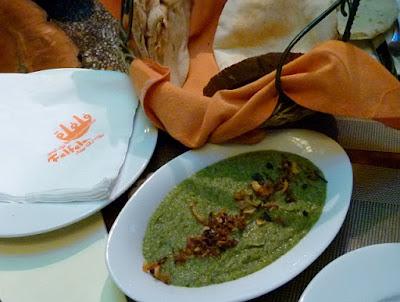 Felfela Restaurant in Downtown Kairo Bessara Foulbohnen Dip