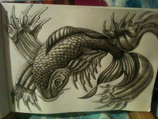 ink wash koi by TonyMark