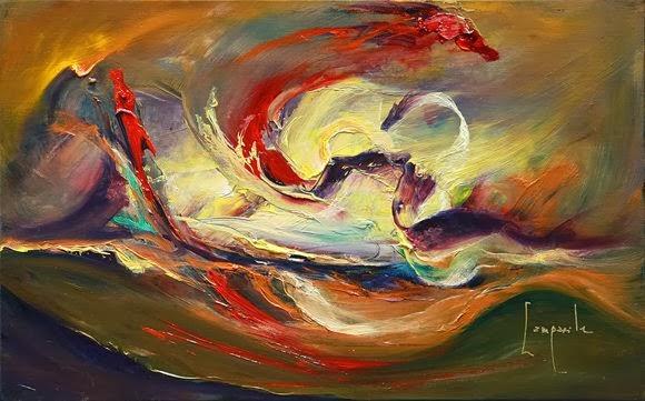 Lukisan Abstrak Karya Dario Campanile