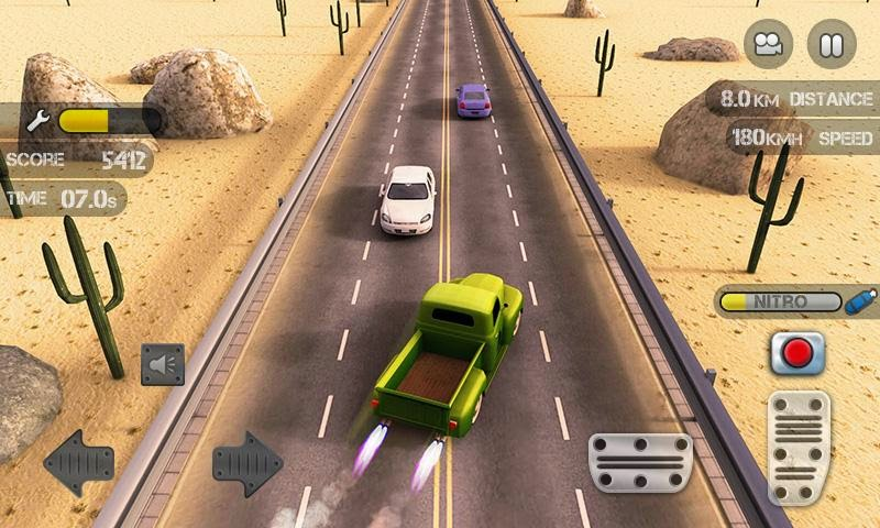 Race the Traffic Nitro Gameplay
