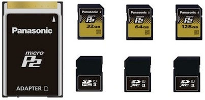 Panasonic Launched P2 SD Cards or MicroP2 Solid state memory Cards