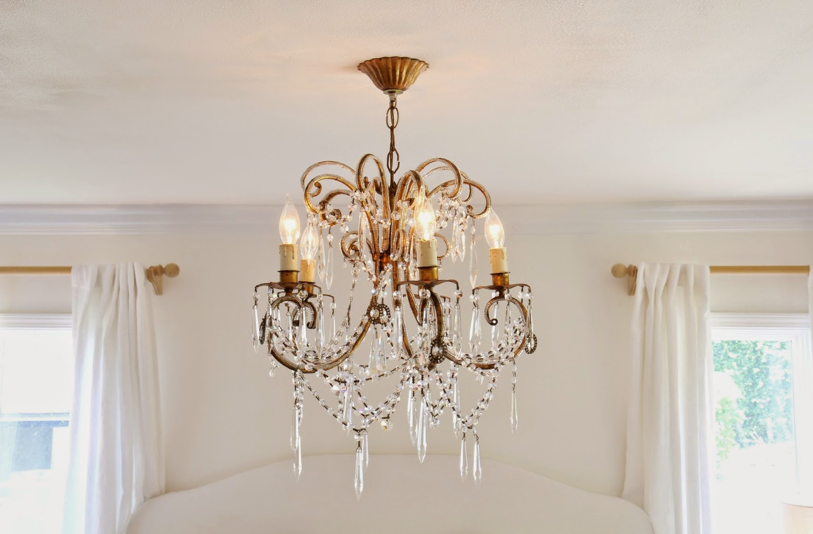 Gold Gilt Chandelier for the Master Bedroom; Nora's Nest