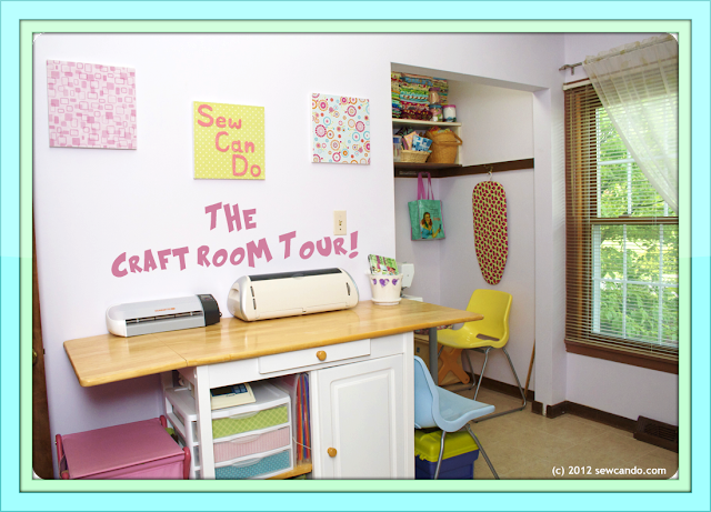 Sew Can Do: Hey, Come On Over! It's Craft Room Tour Time:)