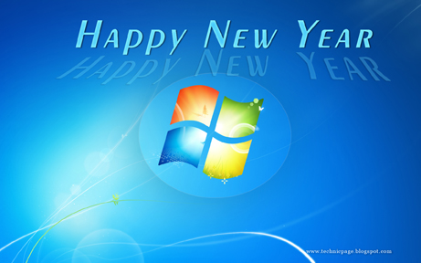 windows7 style 2013 wallpaper for the new year