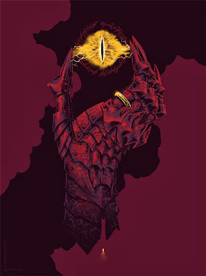 """Hand of Sauron"" The Lord of the Rings Variant Screen Print by Phantom City Creative"