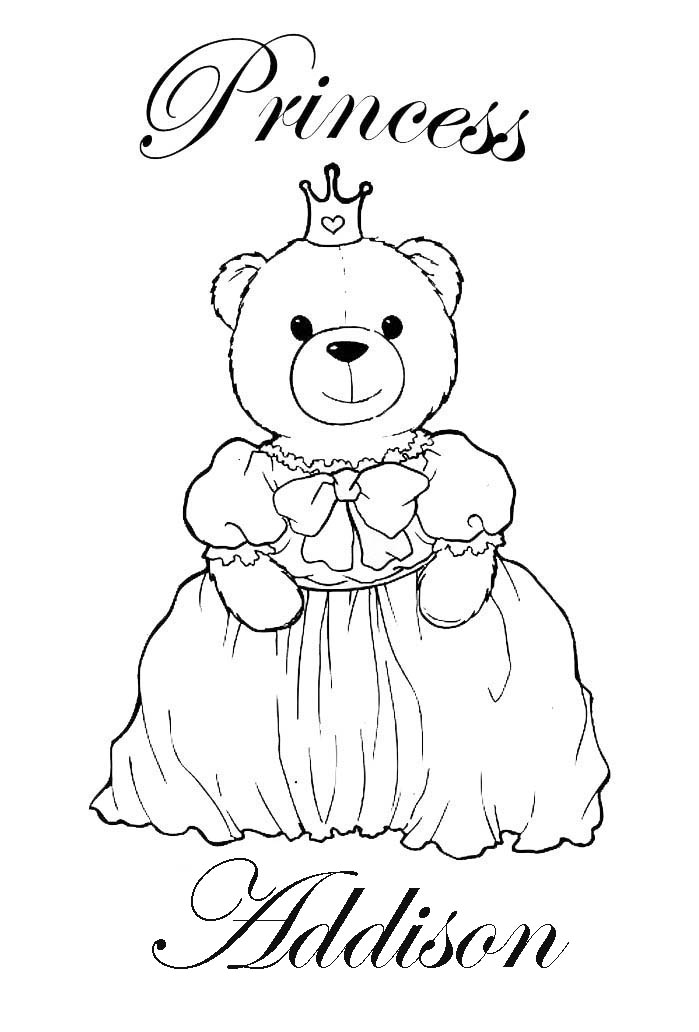 Coloring Pictures With Names Personalized Coloring Pages For Kids