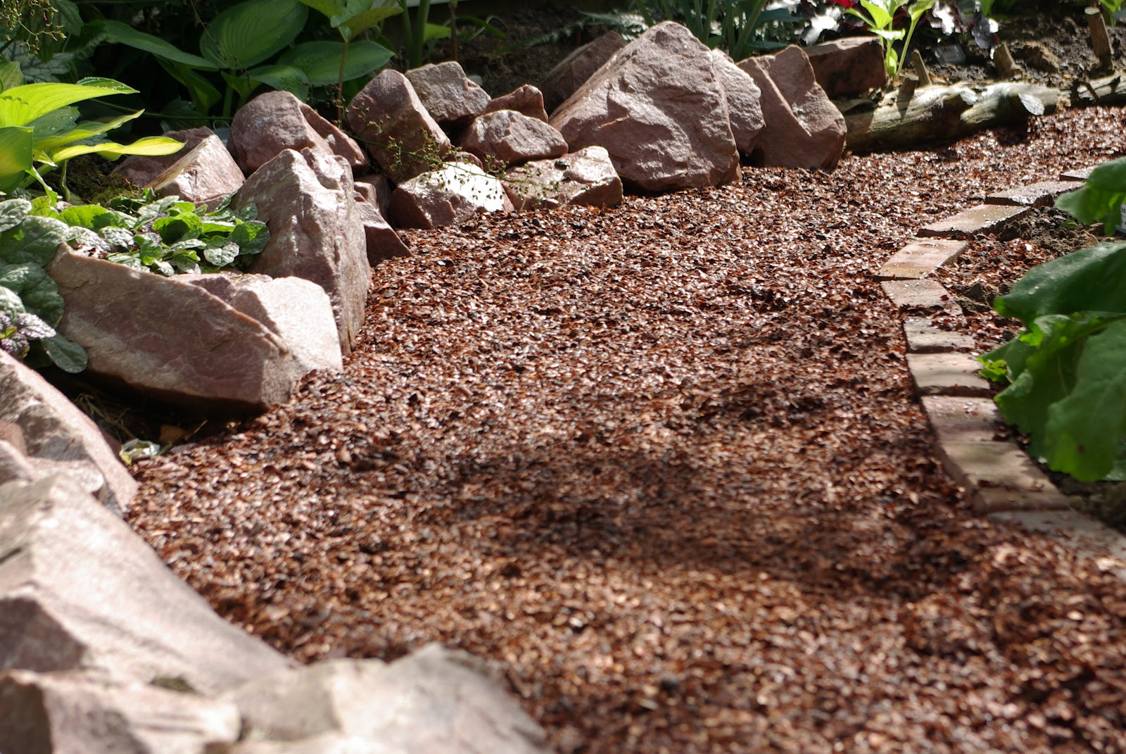 Backyard Mulch Jump : The big warning with cocoa hull mulch is if you have dogs They may be