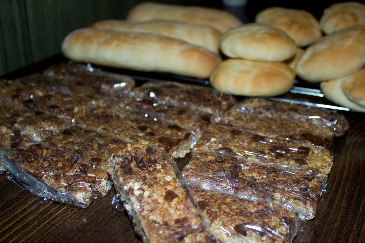 Homemade buns and granolla bars