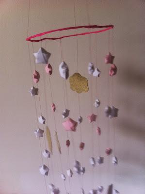 DIY-mobile-étoile-origami