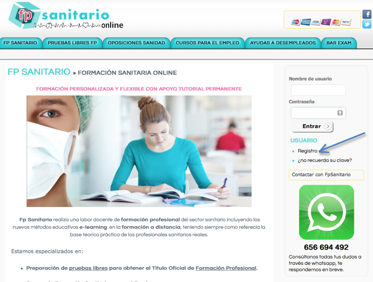 Fp sanitario fp sanitario cursos sanitarios online for Sanitarios online