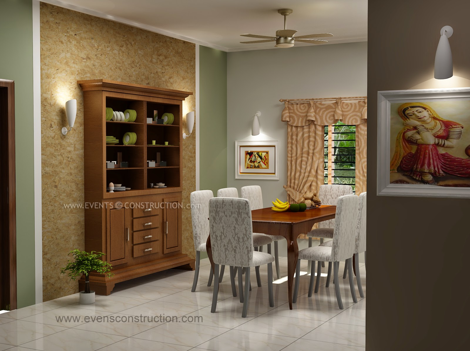 Evens construction pvt ltd july 2014 for Dining room designs kerala