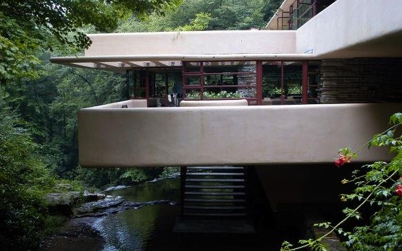 Val rie adoooore l 39 iconique maison falling water de - La maison sur la cascade de frank lloyd wright ...