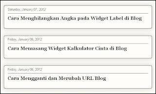 Judul artikel, Title Post, Judul post, halaman awal, halaman branda, home page, Judul Artikel Halaman Awal Blog, Cara Menampilkan Judul Artikel Saja di Home Page