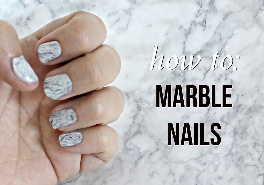 Elle Sees|| Beauty Blogger in Atlanta: Marble Nails: How To