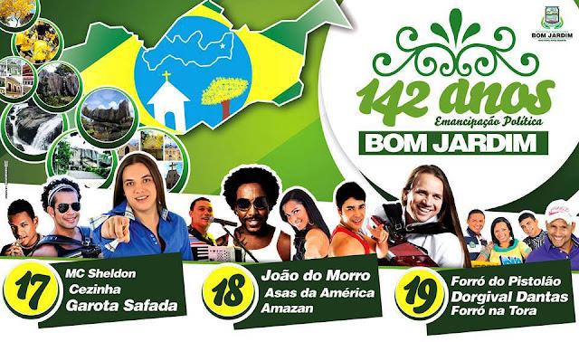 festa jardim do morro : festa jardim do morro:Banda Garota safada em Bom Jardim,festa de emancipação política