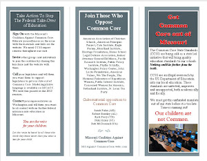 MO Coalition Against Common Core Brochure