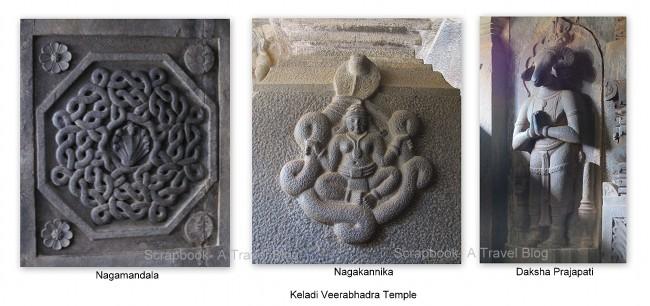 Nagamandala, Daksha with goat head, veerabhadra temple Keladi